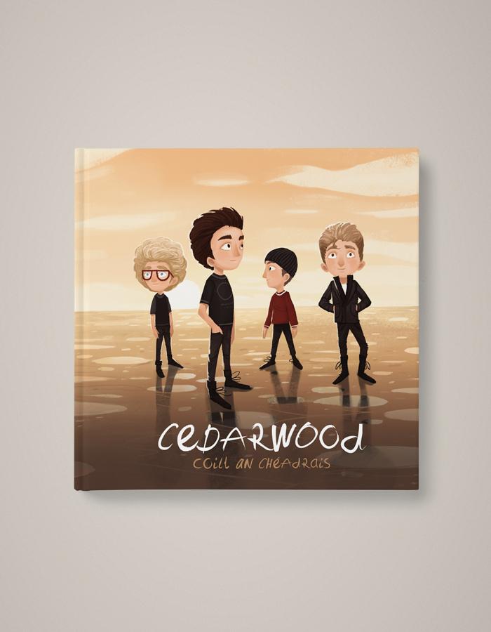 Cedarwood_U2_ChildrensBook_Dublin_Edition_Hardcover_English_Irish_Bilingual