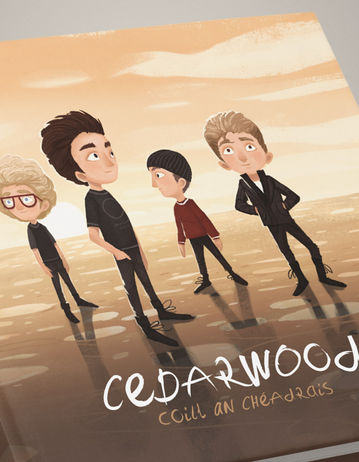 Cedarwood_U2_ChildrensBook_Dublin_Edition_Hardcover_English_Irish_Bilingual_Detail_Cover